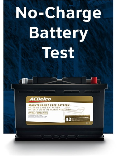 No-Charge Battery Test PLUS $20 Instant Rebate